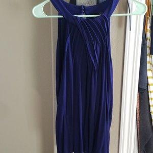 Medium, Dark blue, ruffled blouse